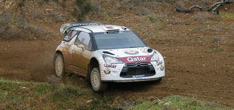 Nasser Al Attitah (QAT) driving is Citroen DS3 Stock Images