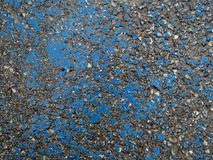 Nasser AsphaltTextured-Hintergrund - alte blaue gebrochene Farbe Lizenzfreies Stockbild