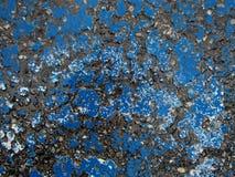 Nasser AsphaltTextured-Hintergrund - alte blaue gebrochene Farbe Lizenzfreie Stockfotografie