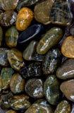 Nasser Felsenfluss-Beschaffenheitshintergrund Stockfotografie