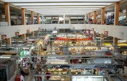 Nasser Innenmarkt in Asien Stockbild