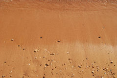 Nasser Sand Lizenzfreie Stockfotografie
