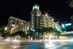 Nasser Stadtschnitt Stockbild