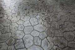 Nasser Steinfußboden Stockfotografie