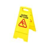 Nasses Fußbodenachtungzeichen Lizenzfreie Stockbilder