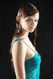 Nasses reizvolles Mädchen, halfbody Lizenzfreies Stockfoto