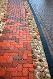 Nasses Straßenbetoniermaschinenmuster Lizenzfreie Stockbilder