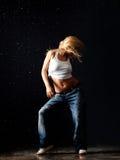 Nasses Tanzen Stockfoto