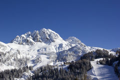 Nassfeld Hermagor ski resort Royalty Free Stock Images