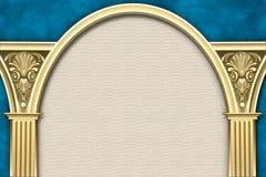 następnie kolumny ramy klasycznej Zdjęcie Stock