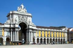 następnie Lizbońskiego Augusta street zdjęcie royalty free