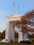 następnie monument brzoskwiniowy zmierzchu Zdjęcia Royalty Free