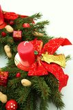 nastania bożych narodzeń dekoraci wih wianek Zdjęcie Stock