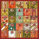 nastania kalendarzowe kreskówki bożych narodzeń elementów ikony synchronizować różnorodnego Obraz Stock