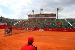 Nastase Tiriac arena podczas Tenisowego dopasowania Między GIMENO-TRAVER - Viktor TROICKI Zdjęcie Stock