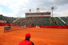 Nastase Tiriac Arena during the Tennis Match Between GIMENO-TRAVER -Viktor TROICKI Stock Photo