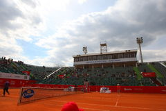 Nastase Tiriac Arena during the Tennis Match Between GIMENO-TRAVER -Viktor TROICKI Royalty Free Stock Photography