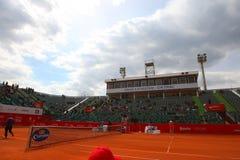 Nastase Tiriac arena under tennismatchen mellan GIMENO-TRAVER - Viktor TROICKI Royaltyfri Fotografi
