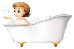 Nastolatek bierze skąpanie przy wanną Obraz Stock