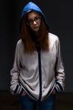 Nastolatek dziewczyna w cieniu Obrazy Royalty Free