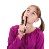 Nastolatek dziewczyny główkowanie Fotografia Stock