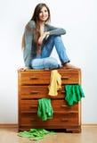 Nastolatek dziewczyny portret w domu Obrazy Royalty Free