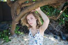 Nastolatek dziewczyny seniora portret Fotografia Royalty Free