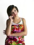 Nastolatek elegancka dziewczyna Zdjęcia Royalty Free