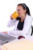 nastolatek kawowa target1071_0_ praca Obrazy Stock