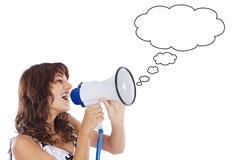 nastolatek megafonu Fotografia Stock