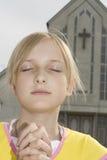 nastolatek modlitwa Fotografia Stock