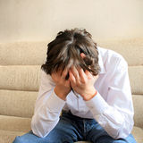 nastolatek niepokojący Fotografia Stock