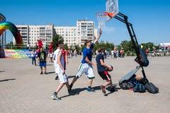 Nastolatek sztuki koszykówka Obraz Stock