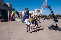 Nastolatek sztuki koszykówka Fotografia Royalty Free