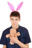 Nastolatek z królików ucho fotografia stock