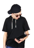 Nastolatek z pastylka komputerem Obrazy Stock
