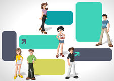 Nastolatków ucznie Obrazy Stock