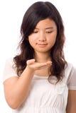 nastolatka azjatykci biel Zdjęcia Royalty Free