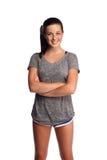 nastolatka dysponowany trening zdjęcia stock