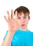 Nastolatka przedstawienie palma Fotografia Stock