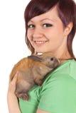 Nastolatka zwierzę domowe Zdjęcie Stock