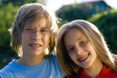 nastolatki szczęśliwi Obraz Royalty Free