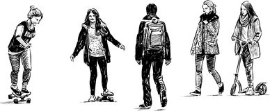 Nastolatkowie przy czasem wolnym Obraz Royalty Free