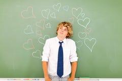 Nastoletni chłopak miłość fotografia royalty free