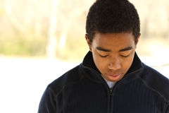 Nastoletni chłopak ma problemy Fotografia Royalty Free