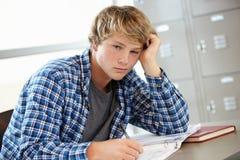 Nastoletni chłopak w klasie Obraz Stock