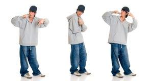 nastoletni chłopiec piosenkarz Obrazy Royalty Free