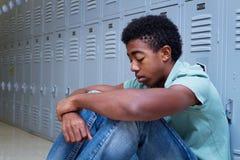 Nastoletni chłopak ma problemy przy szkołą Obraz Stock