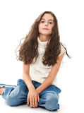 nastoletni dziewczyna biel Fotografia Stock