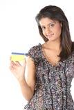 nastoletni dziewczyna karciany kredytowy hindus fotografia royalty free